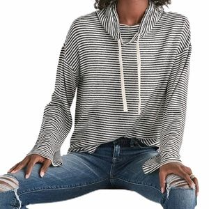 Lucky Brand cloud jersey pullover hoodie striped